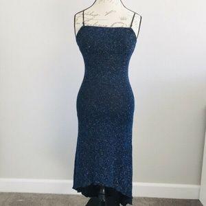 Dresses & Skirts - Beaded Stretchy Dress Sleeveless Black Sz Small